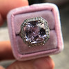 8.40ct Light Pink Purple Sapphire Halo Ring 16