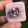 8.40ct Light Pink Purple Sapphire Halo Ring 10