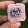 8.40ct Light Pink Purple Sapphire Halo Ring 28