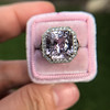 8.40ct Light Pink Purple Sapphire Halo Ring 33