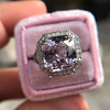8.40ct Light Pink Purple Sapphire Halo Ring 19