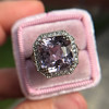 8.40ct Light Pink Purple Sapphire Halo Ring 13