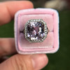 8.40ct Light Pink Purple Sapphire Halo Ring 24