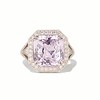 8.40ct Light Pink Purple Sapphire Halo Ring 0