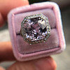 8.40ct Light Pink Purple Sapphire Halo Ring 4