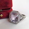 8.40ct Light Pink Purple Sapphire Halo Ring 2