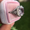 8.40ct Light Pink Purple Sapphire Halo Ring 8