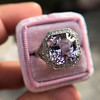 8.40ct Light Pink Purple Sapphire Halo Ring 17
