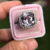 8.40ct Light Pink Purple Sapphire Halo Ring 20