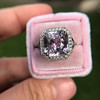 8.40ct Light Pink Purple Sapphire Halo Ring 27