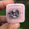 8.40ct Light Pink Purple Sapphire Halo Ring 25