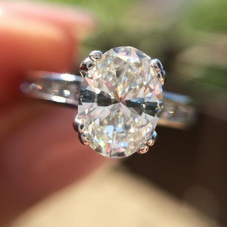 1.05ct Oval Cut Diamond, A Jaffe Setting
