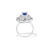 Platinum Diamond And Sapphire Triple Row Cluster Ring 2