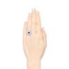 Platinum Diamond And Sapphire Triple Row Cluster Ring 3