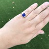 3.95ct Sapphire and Diamond 3-Stone Ring 7