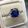 3.95ct Sapphire and Diamond 3-Stone Ring 4