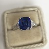 3.95ct Sapphire and Diamond 3-Stone Ring 6