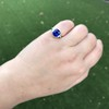 3.95ct Sapphire and Diamond 3-Stone Ring 21