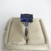 3.95ct Sapphire and Diamond 3-Stone Ring 15