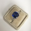 3.95ct Sapphire and Diamond 3-Stone Ring 11