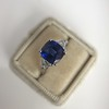 3.95ct Sapphire and Diamond 3-Stone Ring 12