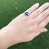 3.95ct Sapphire and Diamond 3-Stone Ring 24