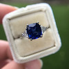 3.95ct Sapphire and Diamond 3-Stone Ring 16