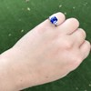 3.95ct Sapphire and Diamond 3-Stone Ring 26