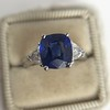 3.95ct Sapphire and Diamond 3-Stone Ring 13