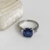 3.95ct Sapphire and Diamond 3-Stone Ring 23