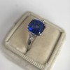 3.95ct Sapphire and Diamond 3-Stone Ring 5