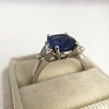 3.95ct Sapphire and Diamond 3-Stone Ring 14