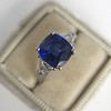 3.95ct Sapphire and Diamond 3-Stone Ring 10