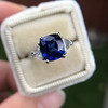 3.95ct Sapphire and Diamond 3-Stone Ring 20