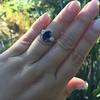 2.65ct (est) Sapphire and Diamond 3-Stone Ring 11
