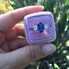 2.65ct (est) Sapphire and Diamond 3-Stone Ring 20