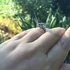 2.65ct (est) Sapphire and Diamond 3-Stone Ring 10