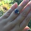 2.65ct (est) Sapphire and Diamond 3-Stone Ring 14