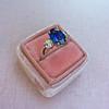 2.65ct (est) Sapphire and Diamond 3-Stone Ring 13