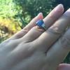 2.65ct (est) Sapphire and Diamond 3-Stone Ring 4