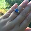 2.65ct (est) Sapphire and Diamond 3-Stone Ring 8