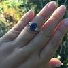 2.65ct (est) Sapphire and Diamond 3-Stone Ring 5