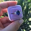 2.65ct (est) Sapphire and Diamond 3-Stone Ring 17