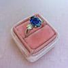 2.65ct (est) Sapphire and Diamond 3-Stone Ring 0