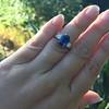 2.65ct (est) Sapphire and Diamond 3-Stone Ring 7