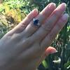 2.65ct (est) Sapphire and Diamond 3-Stone Ring 12