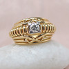 Transitional Cut Diamond Dome Ring 4