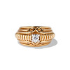 Transitional Cut Diamond Dome Ring 0
