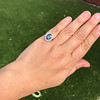 Vintage Sapphire Halo Ring 16