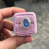 Vintage Sapphire Halo Ring 6